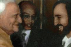 En Nueva Delhi con el presidente de la India V. V. Giri (1987)