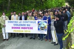 Marcha contra las continuas violencias a las mujeres indefensas (2014)