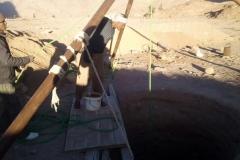 Las excavaciones de los pozos en Santa Caterina (Egipto, Sinaí)